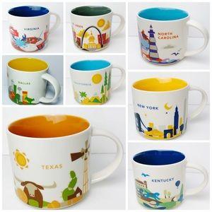 Starbucks | you are here city/state mugs 2013-2018